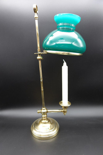An Unusual Mid 19th Century Brass Students Lamp