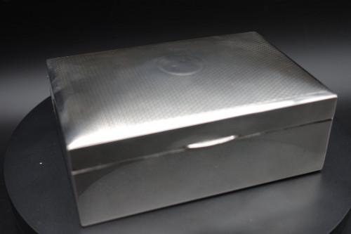 A Mid 20th Century English Silver Cigarette Box