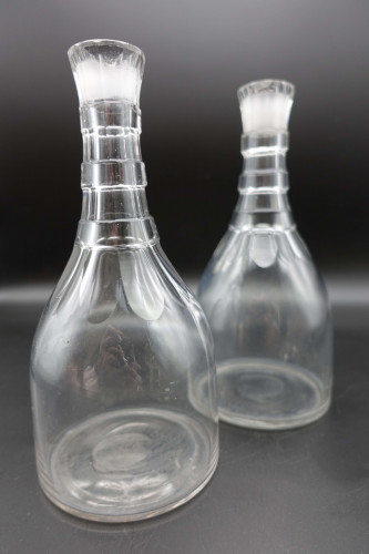 A Pair of George III Period Mallet Shaped Carafes