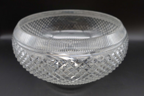 A Late 19th Century Finely Cut Fruit or Salad Bowl