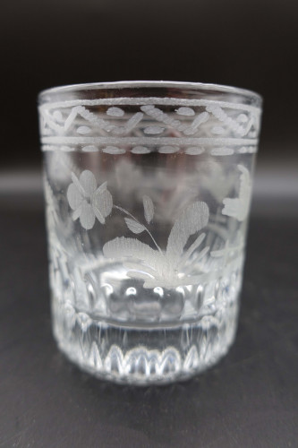 A Very Small Early 19th Century Finely Etched Tumbler