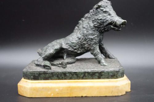 A Finely Modelled Mid 19th Century Bronze Figure of the Ufizzi Boar