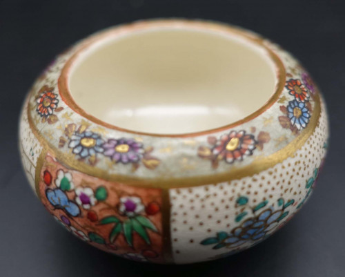 An Early 20th Century Finely Decorated Satsuma Salt
