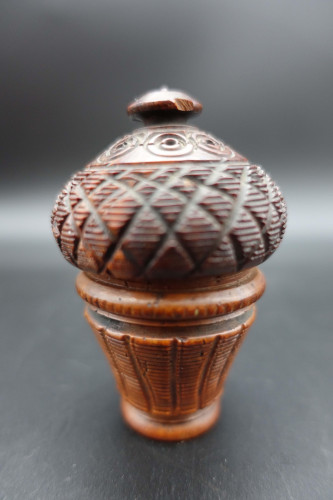 A Late 19th Century Finely Carved Nutmeg Grater