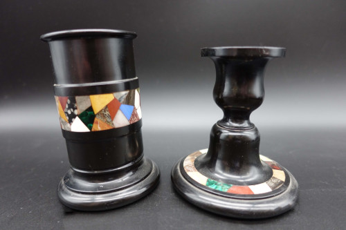 An Early 20th Century Ashburton Derbyshire Candlestick and Taper Holder