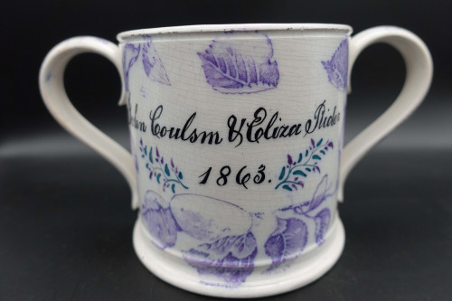 An Attractive mid 19th Century Commemorative Marriage Frog Mug