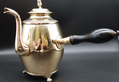 An Elegant Early 19th Century French Copper Chocolate of Coffee Pot