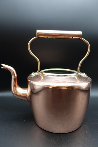 A Good Late Victorian Copper Kettle