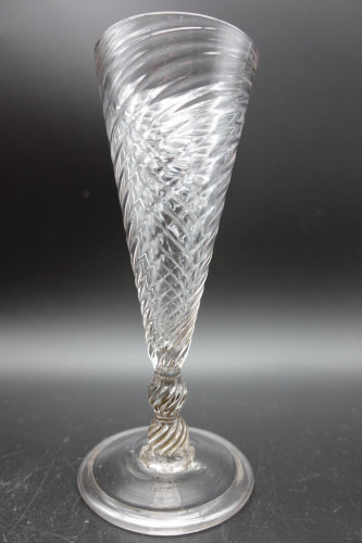 A Good Example of a Mid 19th Century Writhen Variform Glass