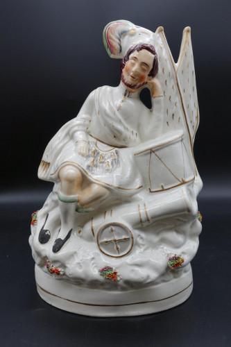 A Mid 19th Century Flatback Figure of a Scottish Musician