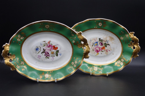 A Pair of Early 19th Century English Porcelain Dessert Dishes