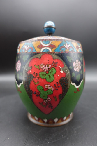 An Early 20th Century Japanese Cloisonné Biscuit Barrel