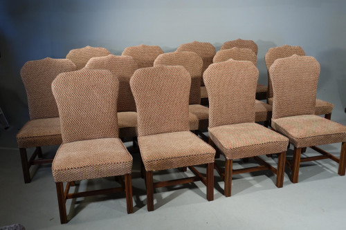 A Modern Set of Hand Built Chairs of Classical George III Period Design