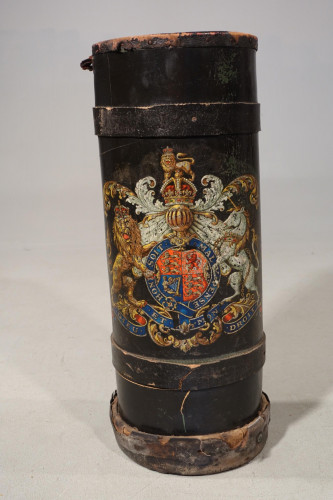 A Early 19th Century Leather Shot Bucket