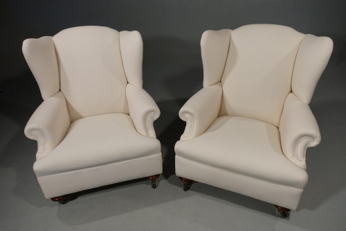 A Substantial Pair of Edwardian Period Drawing Room Chairs
