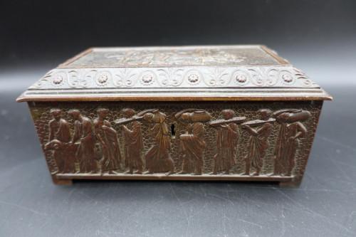 A Beautifully Cast Late 19th Century Continental Bronze Jewellery Box
