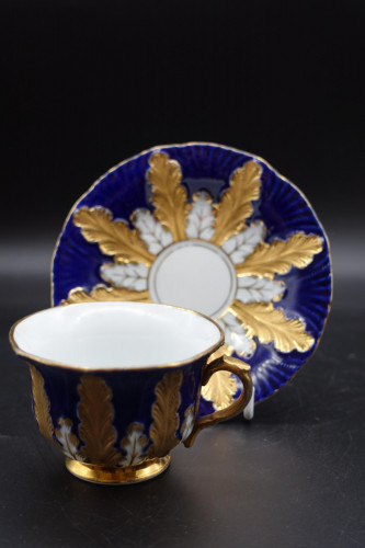 A Late 19th Century Meissen Coffee Cup and Saucer