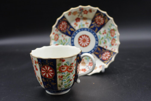 A Late 18th Century Worcester Dr Wall Period Coffee Cup and Saucer