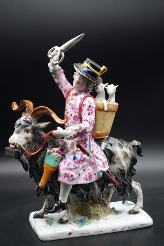 A Very Good Late 19th Century Meissen Figure of Count Brueghel's Tailor