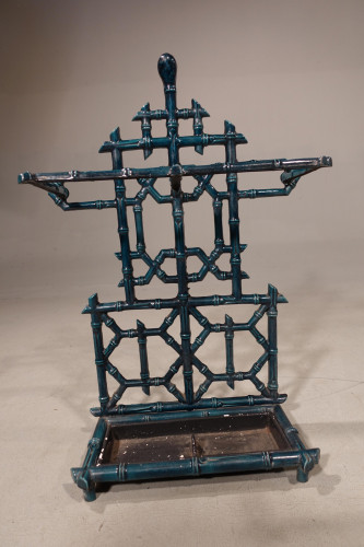 A Late 19th Century Well Cast Mock Bamboo Stick Stand