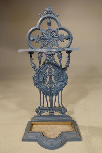 A Very Elegant Late 19th Century Very Elegant Cast-Iron Stick Stand