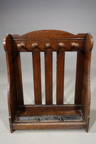 An Early 20th Century Oak Whip and Stick Stand