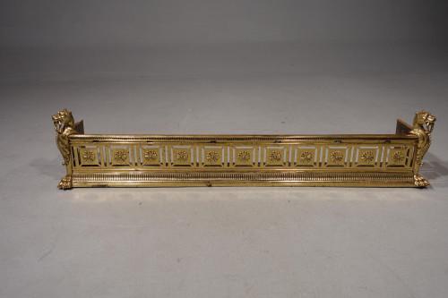 An Exceptionally Fine Late 19th Century Pierced Brass Fender
