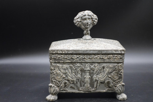 A Beautifully Constructed Late 18th Century Rectangular Metal Box