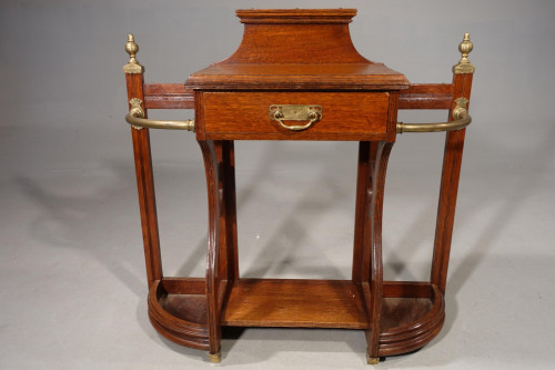 A Good Early 20th Century Oak Hall Stick Stand