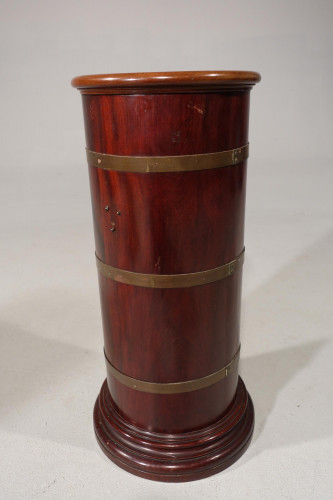A Good George III Period Cylindrical Mahogany Hall or Stick Stand