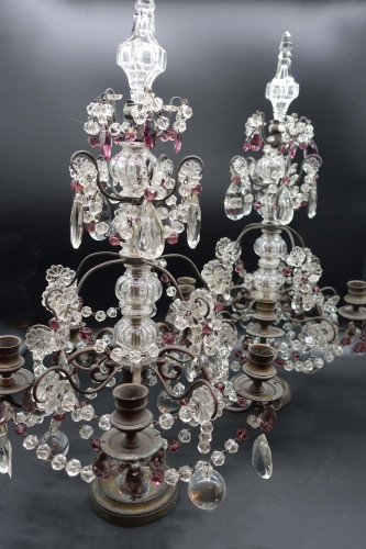 A Complex Pair of Late 19th Century of French Table Candelabras