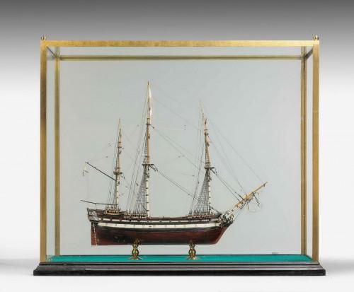 Model of the Russian 66 Gun Ship, Pobedonosec