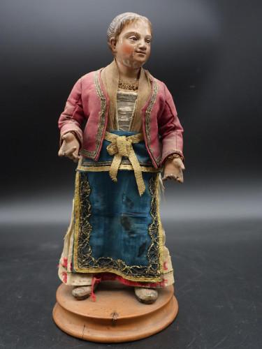 A Well Modelled Mid 19th Century Italian Crib Figure