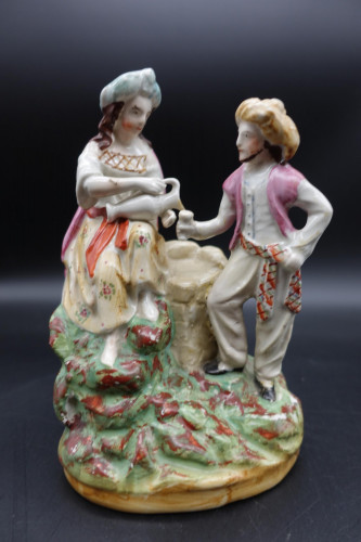 A Well Modelled Late 19th Century Staffordshire Double Figure