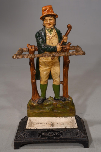 """A Late 19th Century Cast-Iron Stick Stand Entitled """"Ireland"""""""