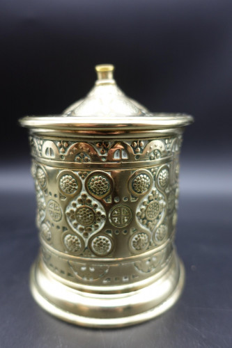 An Attractive French Cast and Engraved Desk String Box