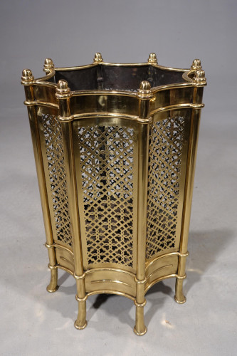 A Specially Commissioned Mid 20th Century Brass Container for up to 65 sticks