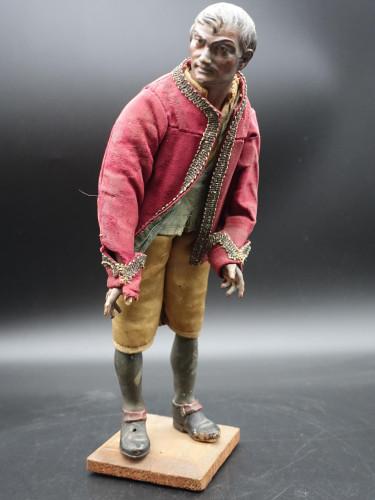 A Very Well Modelled Mid 19th Century Papier-Mâché Italian Crib Figure