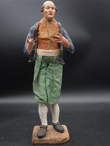 A Very Well Modelled and Tall Mid 19th Italian Crib Figure
