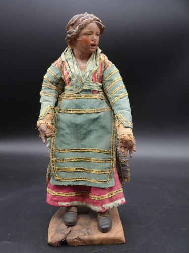 A Very Well Modelled 19th Century Crib Figure