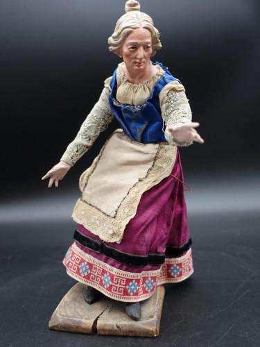A Very Well Modelled 19th Century Italian Crib Figure