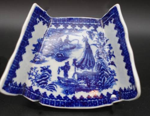 A Pair of 18th Century Porcelain Asparagus Rests