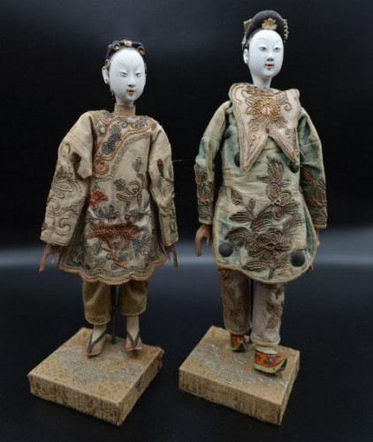 An Unusual Pair of Late 19th Century Opera Dolls