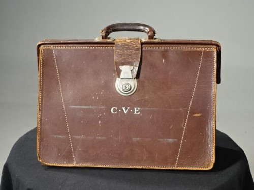 An Early 1920's Heavy Gauge Leather Attaché  Case