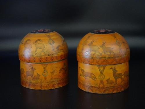 A Pair of Early 20th Century Pair of Engraved Eastern Boxes