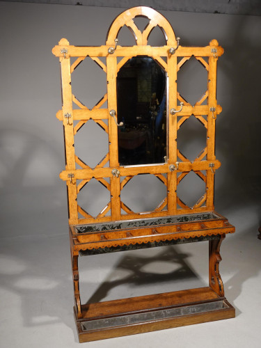 A Good Late 19th Century Golden Oak Hall Stand