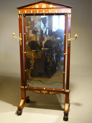 An Exceptional Early 19th Century Empire Mahogany Mirror