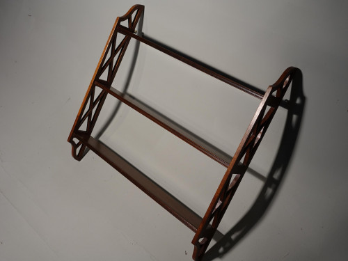 A Mid 20th Century Hanging Rack of Chinese Chippendale Influence