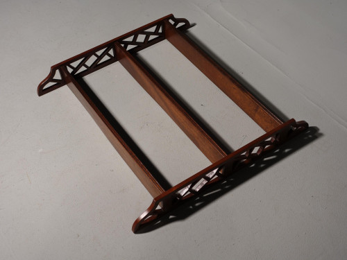 A Mid 20th Century Mahogany Hanging Rack of Chinese Chippendale Influence