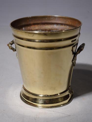 A Very Good George III Period Flared Brass Bucket
